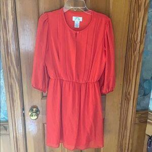 Medium size coral dress